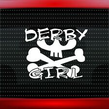 Derby Girl Skull Cute Car Decal Window Vinyl Sticker Gothic Roller (20 COLORS!)