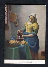 c1970s Medici Art Card: The Cook by Jan Vermeer of Delft