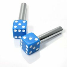Mooneyes Türknöpfe blaue Würfel blue dice Kustom Gamble Street Rod Rock a Billy