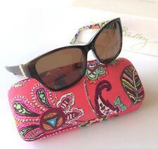 5045b374295 Vera Bradley Marsha Sunglasses Brown Gold New Authentic with Case 56mm