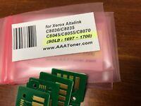 4 Toner Chip (1697 - 1700) for Xerox C8030, C8035, C8045, C8055, C8070 Refill