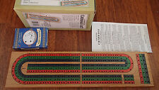 CRIBBAGE SET, MADE OF SOLID WOOD AND COLORED TRACK, FOLDS IN 2