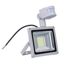 30W LED Flood Light PIR Motion Sensor Outdoor Garden Spot Lamp Cool White