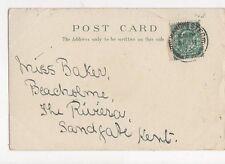 Miss Baker Beacholme The Riviera Sandgate Kent 1903  317a
