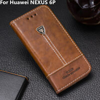 Luxury Premium Pu Leather Flip Case 5.7'' Wallet Back Cover For HUAWEI NEXUS 6P