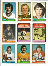 1974-75 OPC Hockey:Lot of 9 different
