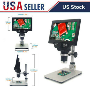 Jeanoko Digital Microscope AD102 220X 5V DC 100/% Popular Science Slices Microscope with Large Screen Display Adjustable Stand for Welding