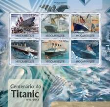 RMS TITANIC White Star Line Ocean Liner MNH Ship Stamp Sheet (2012 Mozambique)