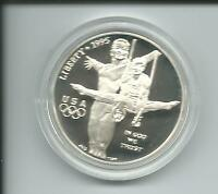 Münze USA Atlanta 1996 Olympiade 1 Dollar Gymnastik Turner 26,73 g Silber PP