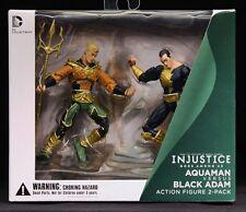 "2013 DC COLLECTIBLES INJUSTICE 2PK AQUAMAN VS. BLACK ADAM 4"" ACTION FIGURES MIB"