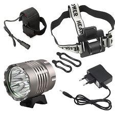 Faro LED bicicletta 6400 Lm 8800 mAh  XML-T6 CREE casco bici escursionismo