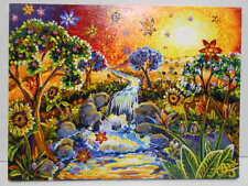 "Vintage C Bjork Oil Painting Be Dazzled ""The Falls"" Landscape Signed 2007"