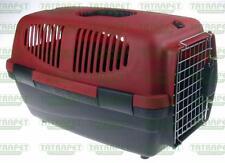 TRANSPORTER in plastica cuvetta per cane gatto coniglio gabbia da viaggio BOX CANCELLO DI METALLO