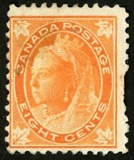 1897-1898 Canada Stamp #72 8c orange, Unused F, HR