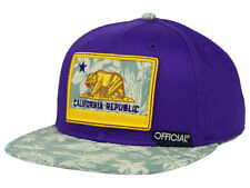 "OFFICIAL ""California Republic"" Snapback Cap (Purple/Gold) OSFA Adjustable Hat"