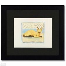 "ORIGINAL Colored Pencil Drawing Charles Lynn Bragg ""Cat Lines #3"" Framed"