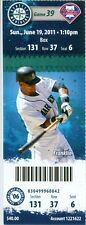 2011 Mariners vs Philliess Ticket: Jason Vargas 3-hit complete game shutout