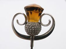 Sterling Silver Hat Pin  by CHARLES HORNER Chester 1909  Scottish Thistle