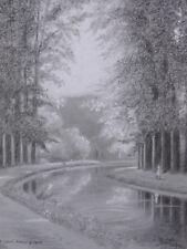 Roger BURLET-VIENNAY (1903-1997) Le Canal à Mehun s/ Yèvre Vierzon cher berry