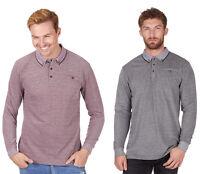 Baum Urban Release Mens Long Sleeve Pique Polo Shirt - Black or Burgundy