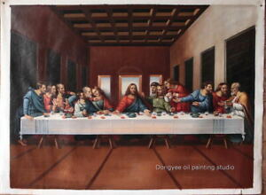 "Art Repro Leonardo da VInci-The Last Supper oil painting on canvas 36""x48"""