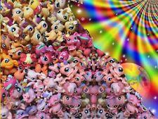 Hasbro Littlest Pet Shop Lot 7 Random LPS Rainbow Colors Authentic US Seller