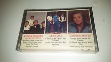 Kenny Rogers/Alabama/George Jones Cassette Tape 1982