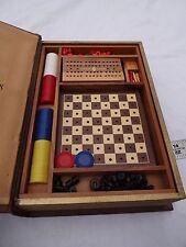 Vintage 1st Ed. 1945 Encyclopedia Of Games Secret Hidden Game Boards & Pieces