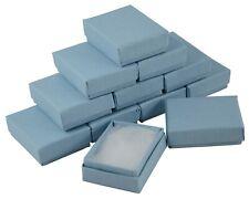 24 x Blue Linen Rectangular Cardboard Box Jewellery Charm Earring Gift Boxes