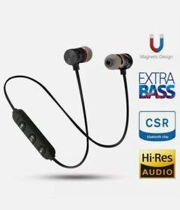 Wireless Bluetooth In-Ear Earphones Stereo Magnetic Earbuds sports Headphone
