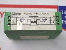 PHOENIX CONTACT 110 VAC 2X20 VDC , MCR-PS-110AC/2x20DC