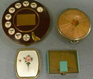 Assorted Vintage Compact Lot / Makeup Powder Storage