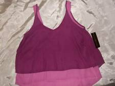 NWT ~ NICKI MINAJ 2-tone purple high-low hem swing tank top ~ women's S