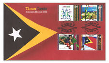Timor East 2002 Independence Set of 4 New Nation's 1st Stamp First Day Cover FDC