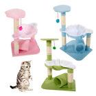 "28"" Cat Tree Tower Condo Sisal Scratcher Furniture Kitten Pet House Hammock"