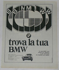 Advert Pubblicità 1969 BMW 2500 / 2800 E3 NEW SIX