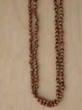 "60"" Navajo Ghost/Cedar Beads Necklace. Juniper Berry by L. Bitsoie."