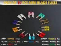 AUDI CAR VAN MINI FUSES SET -SMALL BLADE- 5 7.5 10 15 20 25 30 AMP TOP QUALITY