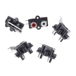 5pcs 2 Position Stereo Audio Video Jack PCB Mount RCA Female Connector*xd