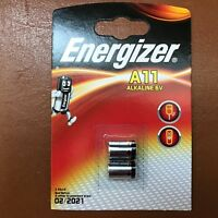 2 x ENERGIZER A11 BATTERY ALKALINE 6V SECURITY BATTERIES E11A MN11 LR11A