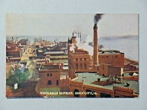 Vintage Wholesale District, Sioux City, IA Divided Back Postcard Unposted 9054