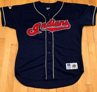 Cleveland Indians Vintage 90's Russell Diamond Collection Jersey 48 XL EUC Rare