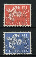 Svizzera 1961 SG # 653-4 Europa usati Set #A 69995