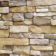 Vinyl Self Adhesive 3D Brick Stone Wallpaper Roll Stickers Living Room 10M