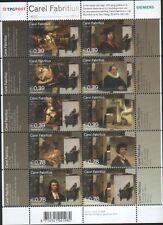Nederland NVPH 2285-94 Vel Carel Fabritius 2004 Postfris
