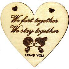 De Madera Día de San Valentín regalos novia novio marido aniversario para mujer &