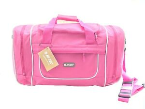 Womens Pink Sports Gym Holdall Bag Ladies Girls Weekend Overnight Travel Bag