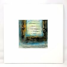 Original~Artisan Made~Encaustic Painting~Monotype~Matted~Signed~Free Shipping
