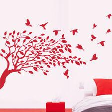 Sticker Décoration XXL Nature Arbre et envolée d'oiseaux, (40x59 cm à 70x103 cm)