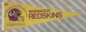 Washington Redskins Super Bowl XVII 17 Champions Full Size NFL football Pennant